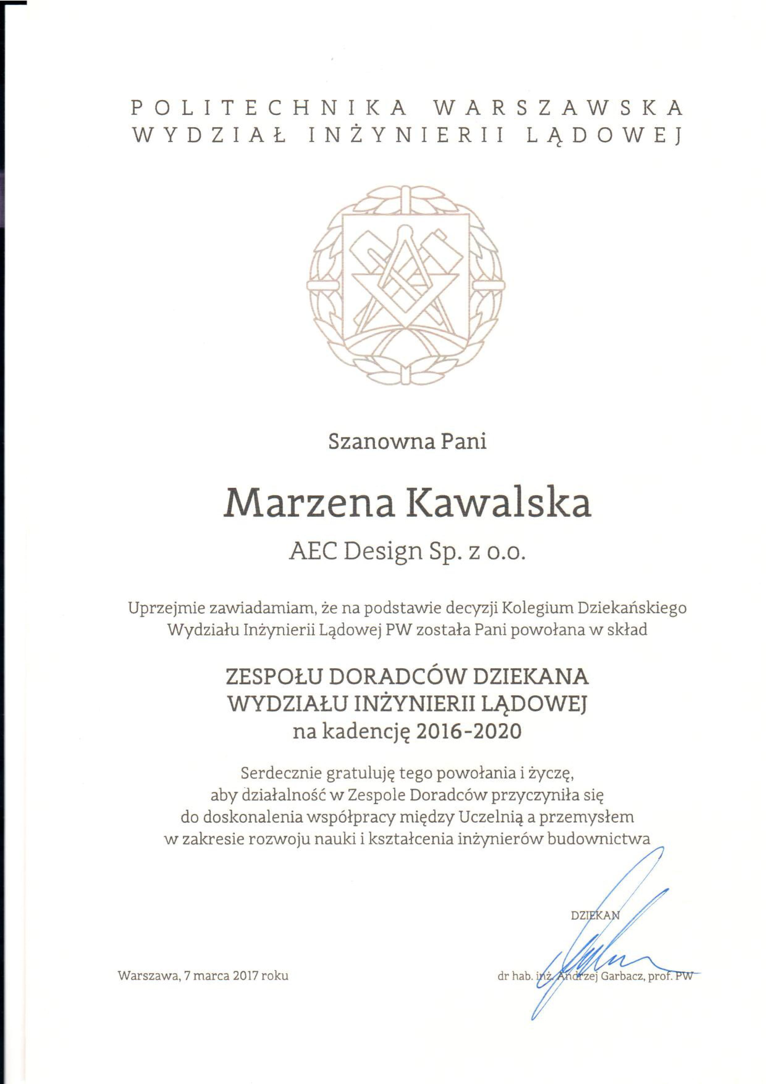 Politechnika Warszawska AEC Design