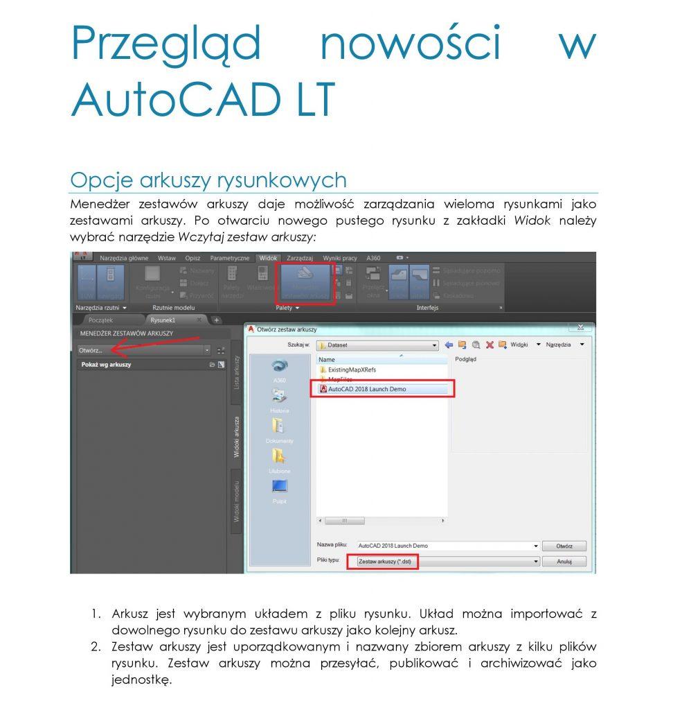 Przegląd nowości w AutoCAD LT