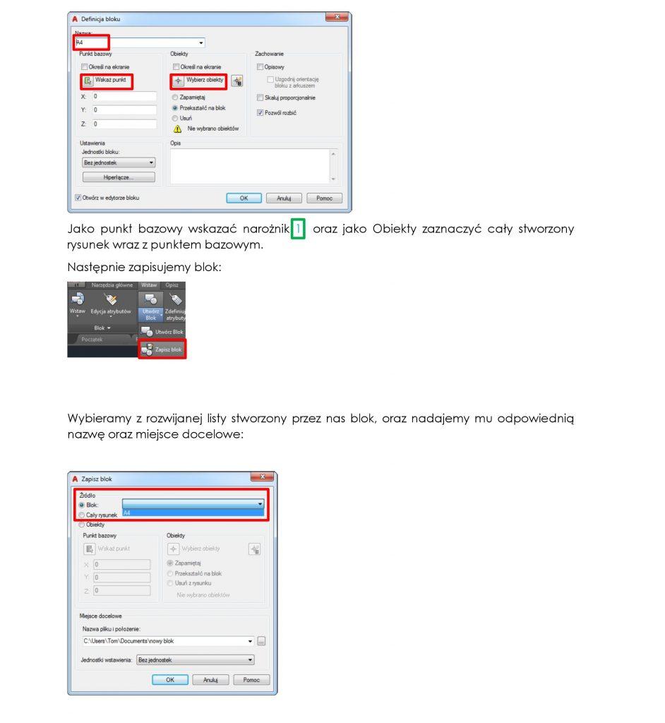 Zaawansowane opcje wydruku w AutoCAD