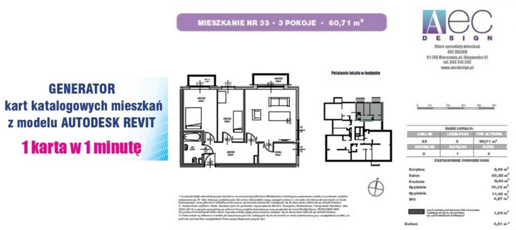 przykładowa karta katalogowa mieszkania skrypt dynamo revit