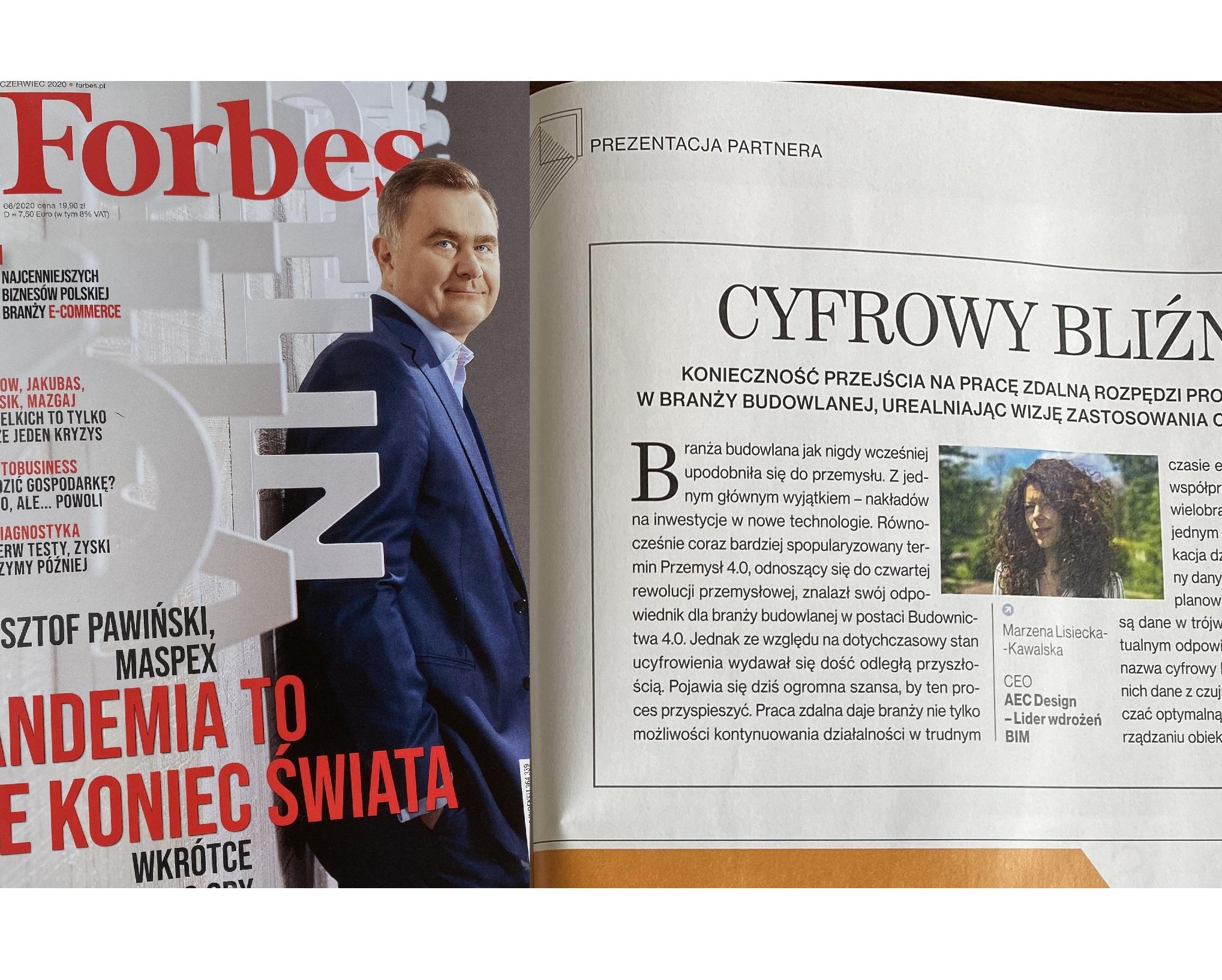 forbes magazyn czasopismo artykuł cyfrowy blizniak