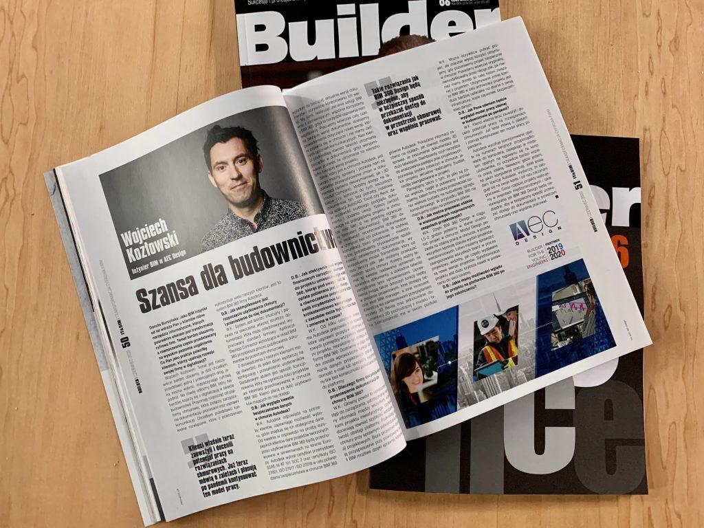 gazeta builder rozkładówka z wywiadem Szansa dla budownictwa