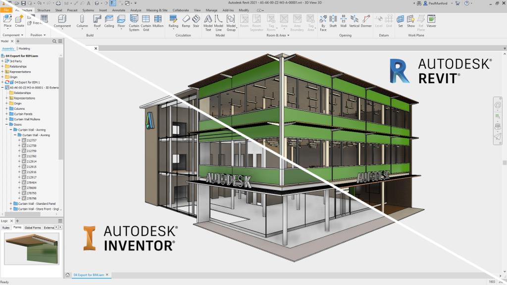 Revit Inventor Autodesk